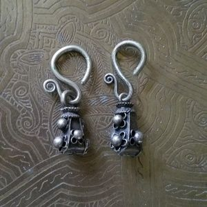 ☆ Antique Dayak Sterling Earrings ☆1 of a Kind!!!